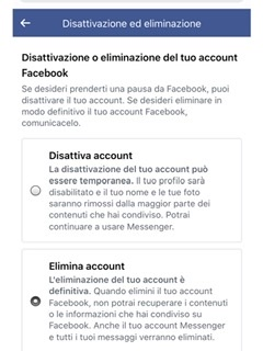 Come cancellarsi da Facebook 1