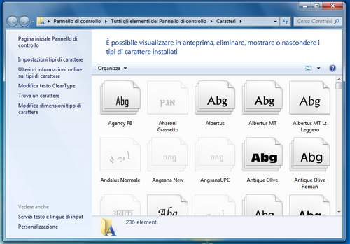 come installare font su PC