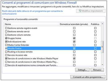 Attivare Windows firewall