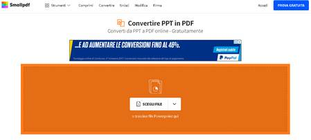 Convertire power point in pdf